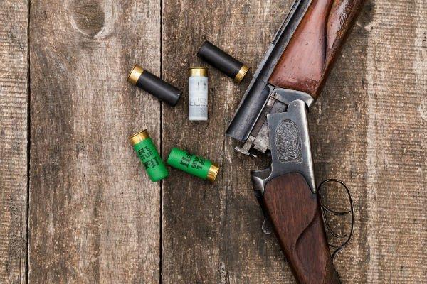 fucile da caccia con le munizzioni