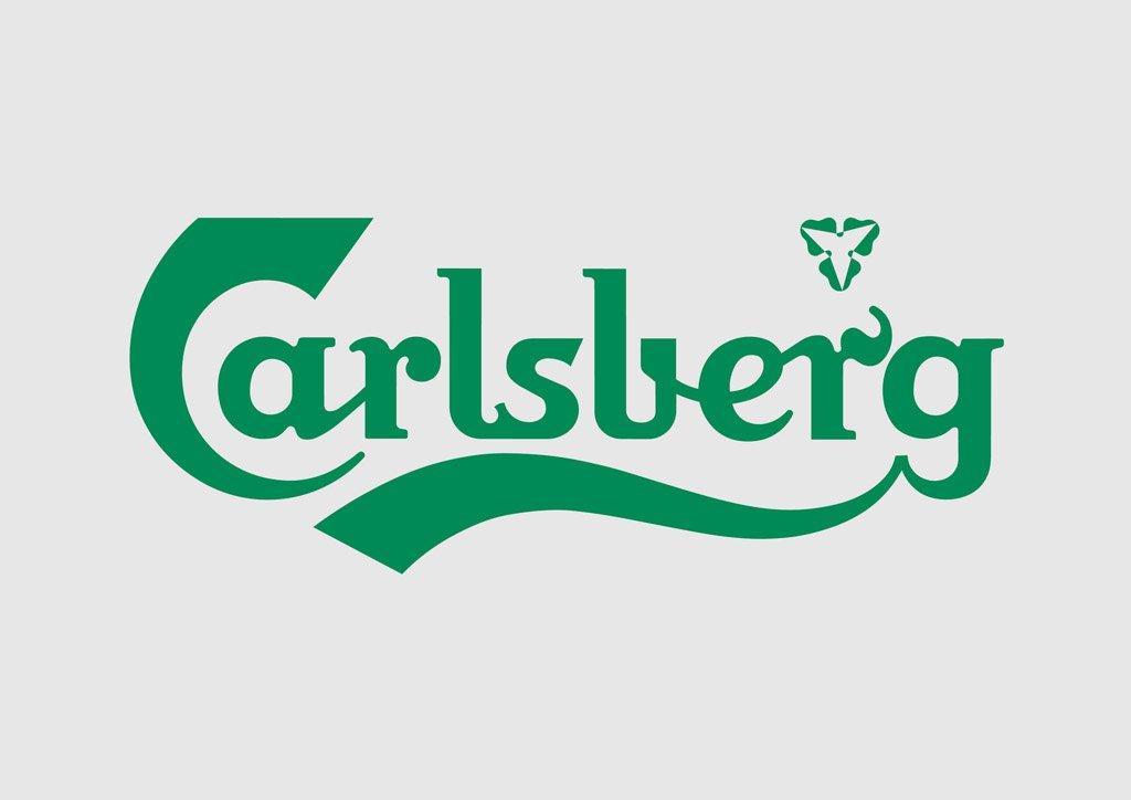 logo Carlsberg verde in corsivo