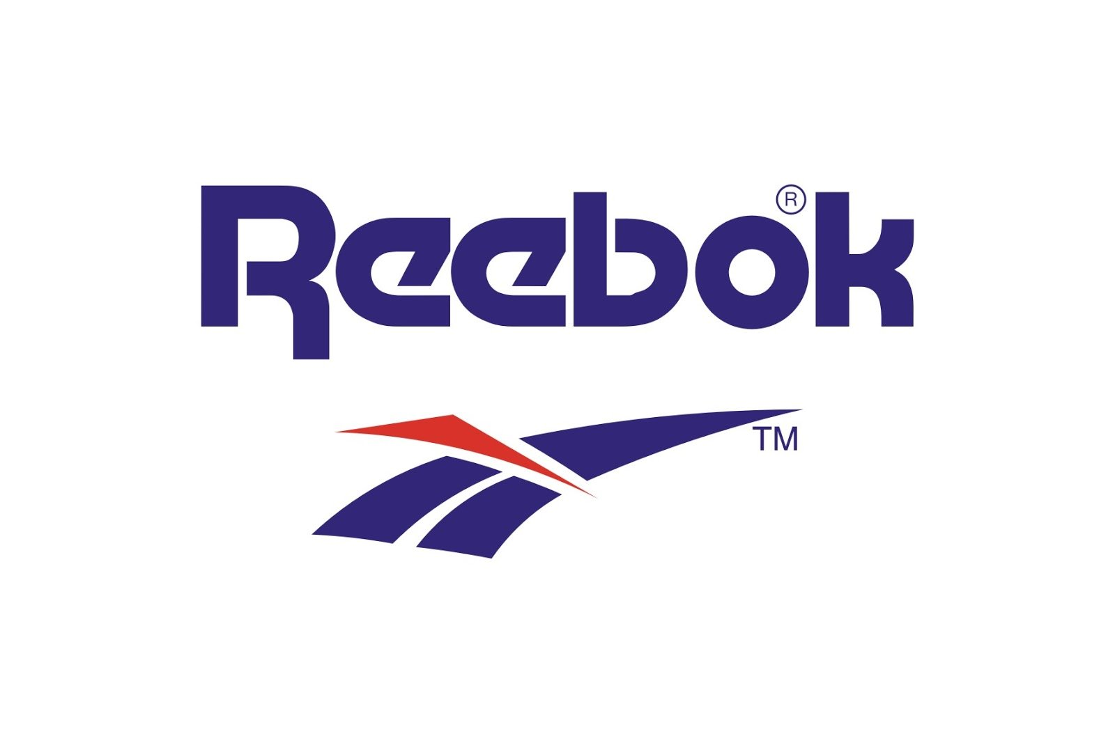 Logo Reebok blu e rosso