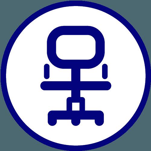 logo di una sedia d'ufficio
