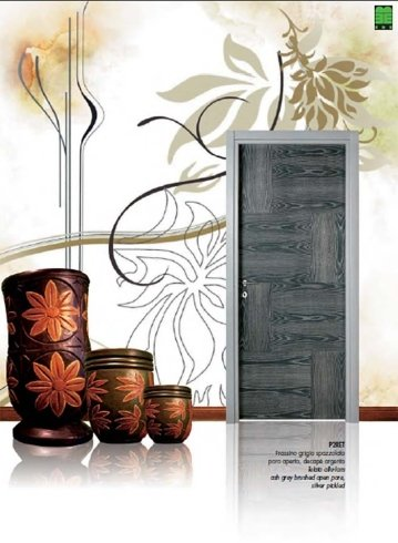 Porta grigia e argento