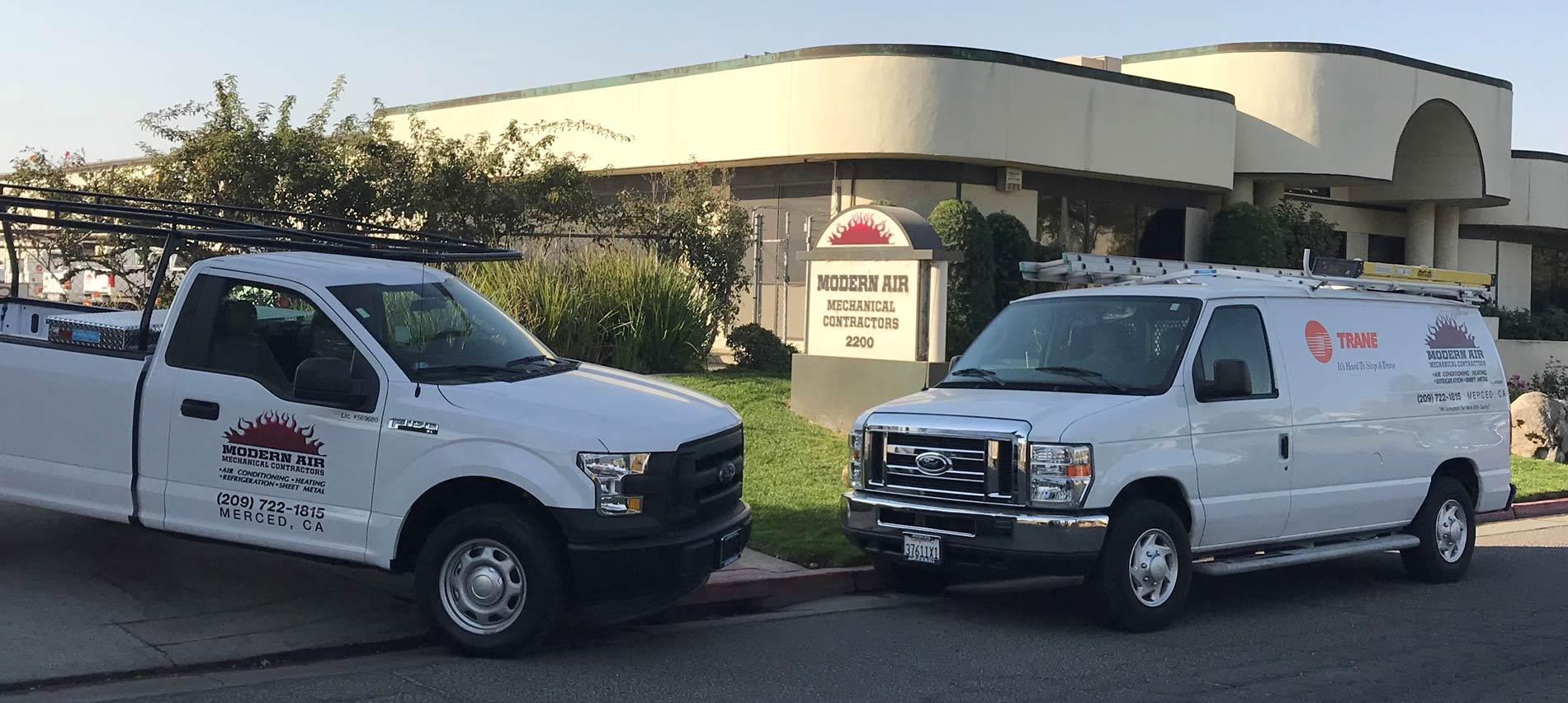 service truck and van