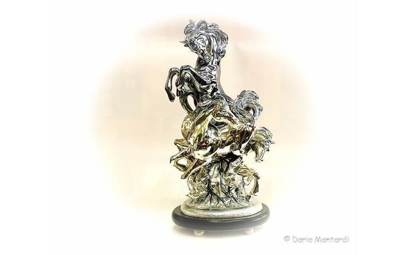 cavallo in argento