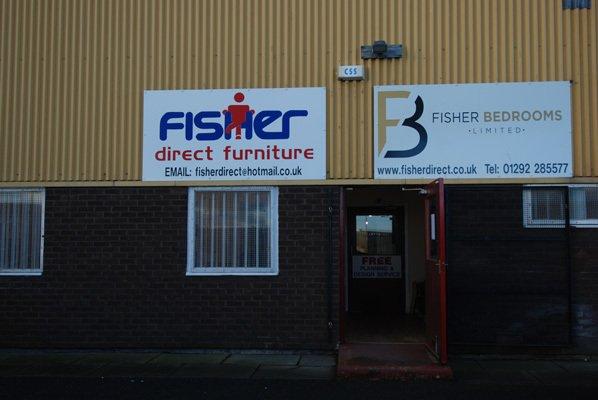 Fisher direct furniture retail store entry view