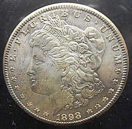 Morgan silver dollar sold at auction