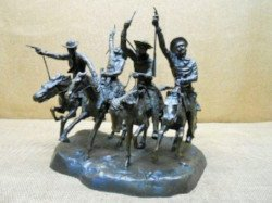 Frederic Remington Coming thru the Rye sold at auction