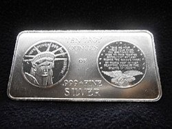 10 oz. Silver bar sold at auction