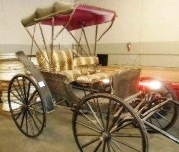 Turn of the century horse drawn buggy