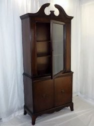Mid century China hutch sold at auction