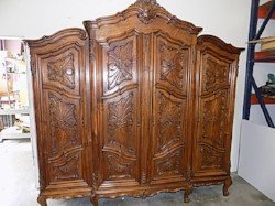 Antique English clothing armoire sold at auction
