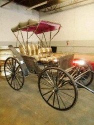 Turn of the century horse drawn buggy sold at auction