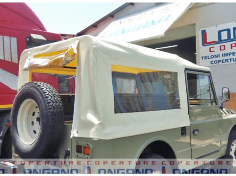 telo; pvc; avorio;jeep; copertura; finestre; cristal trasparente; riparati con noi; coperture longano;