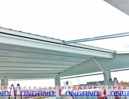 struttura, copertura, pvc, bianco, ombra, impermeabile, tende perimetrali , tende steccate, cristal