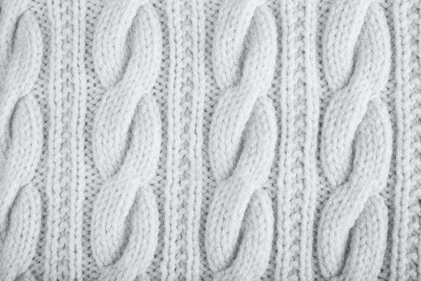 tessuto in lana bianco