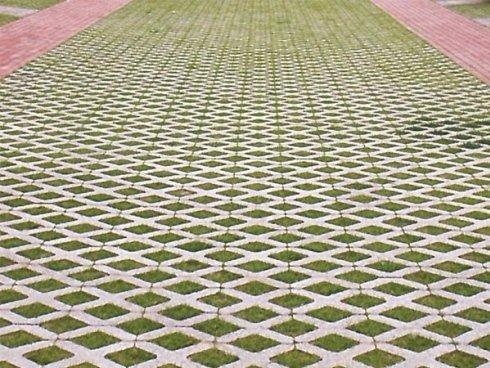 Realizzazione pavimentazione autobloccanti grigliata