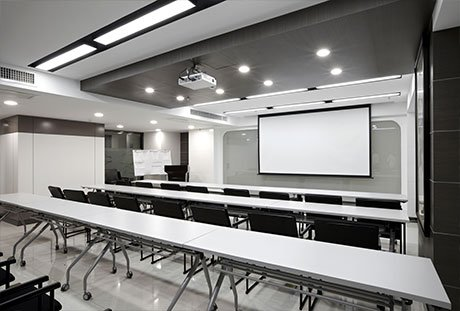 Office conference room with projector