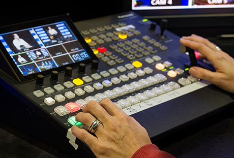 Video switcher used in live video production