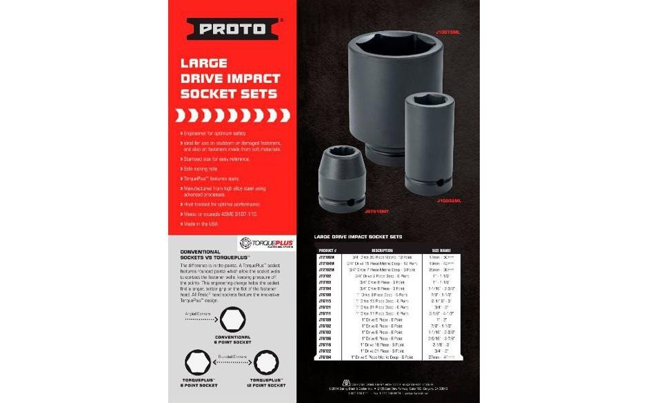 Proto - Large Drive Impact Sockets