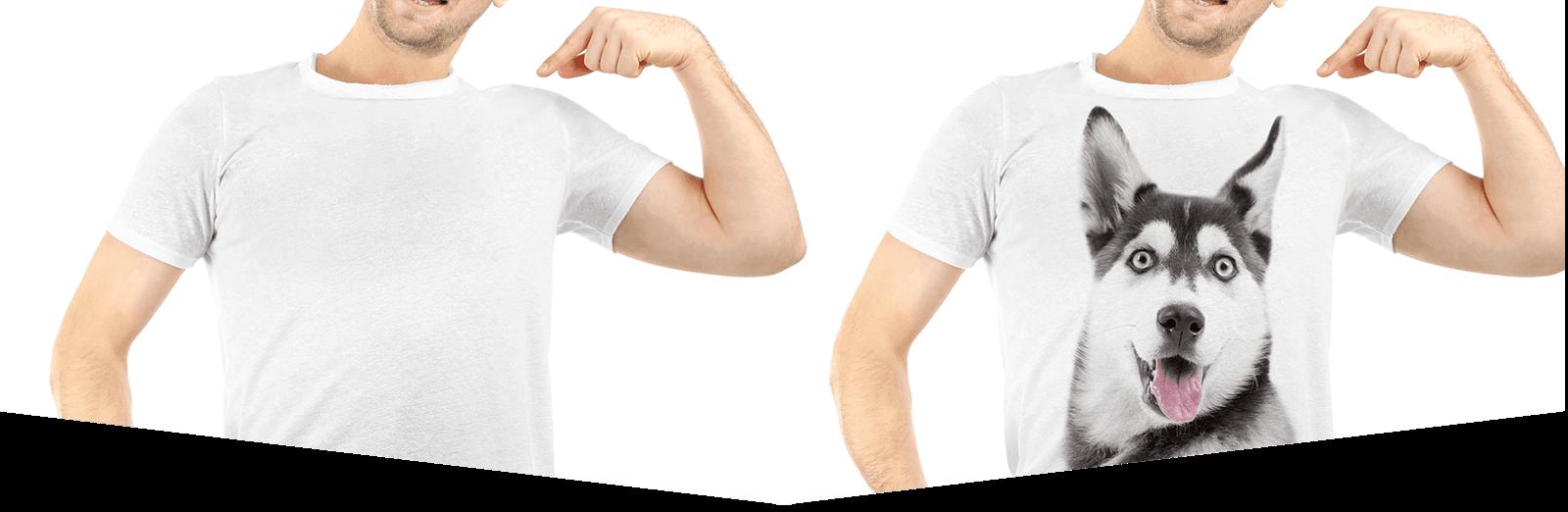 due ragazzi con magliette serigrafate