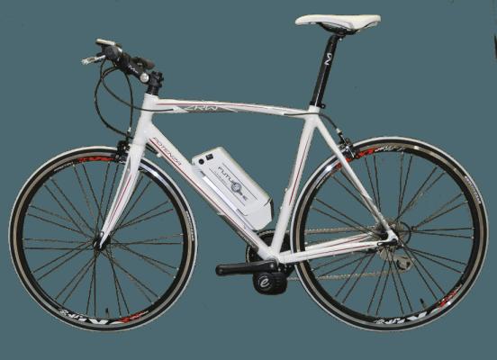 bici da corsa bianca