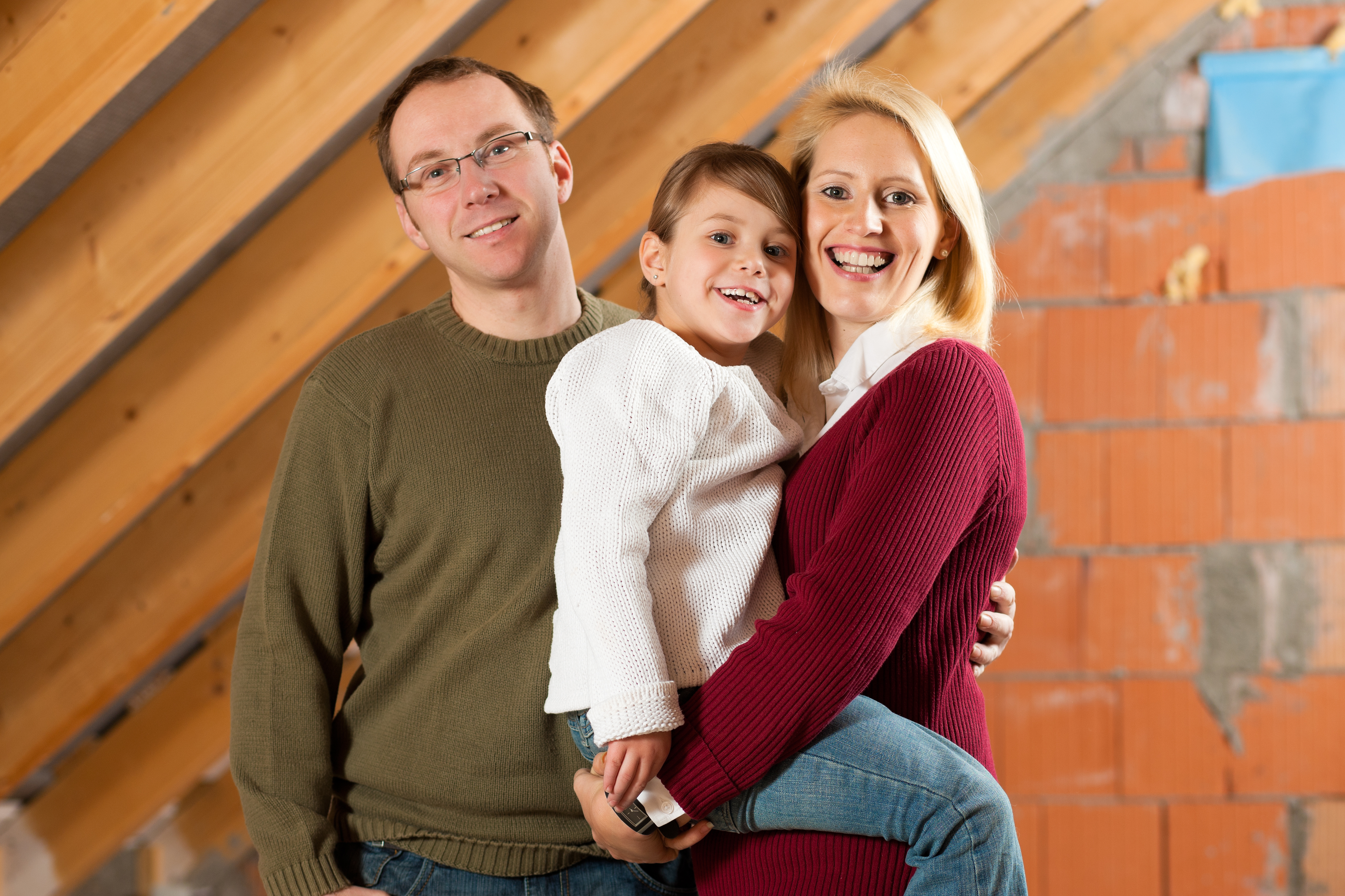 Family in bat free attic