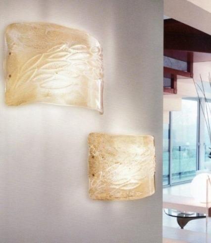 appliques muro con vetro di murano lavorato