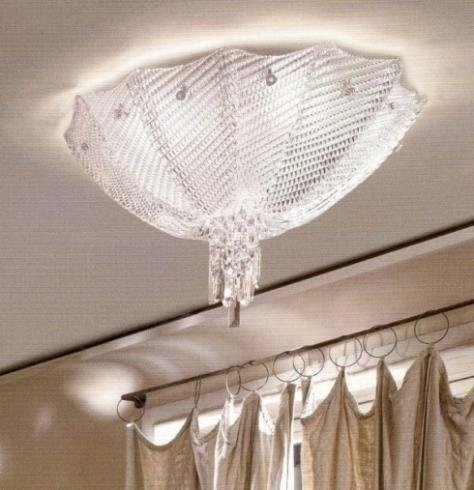 lampadario a vele a soffitto