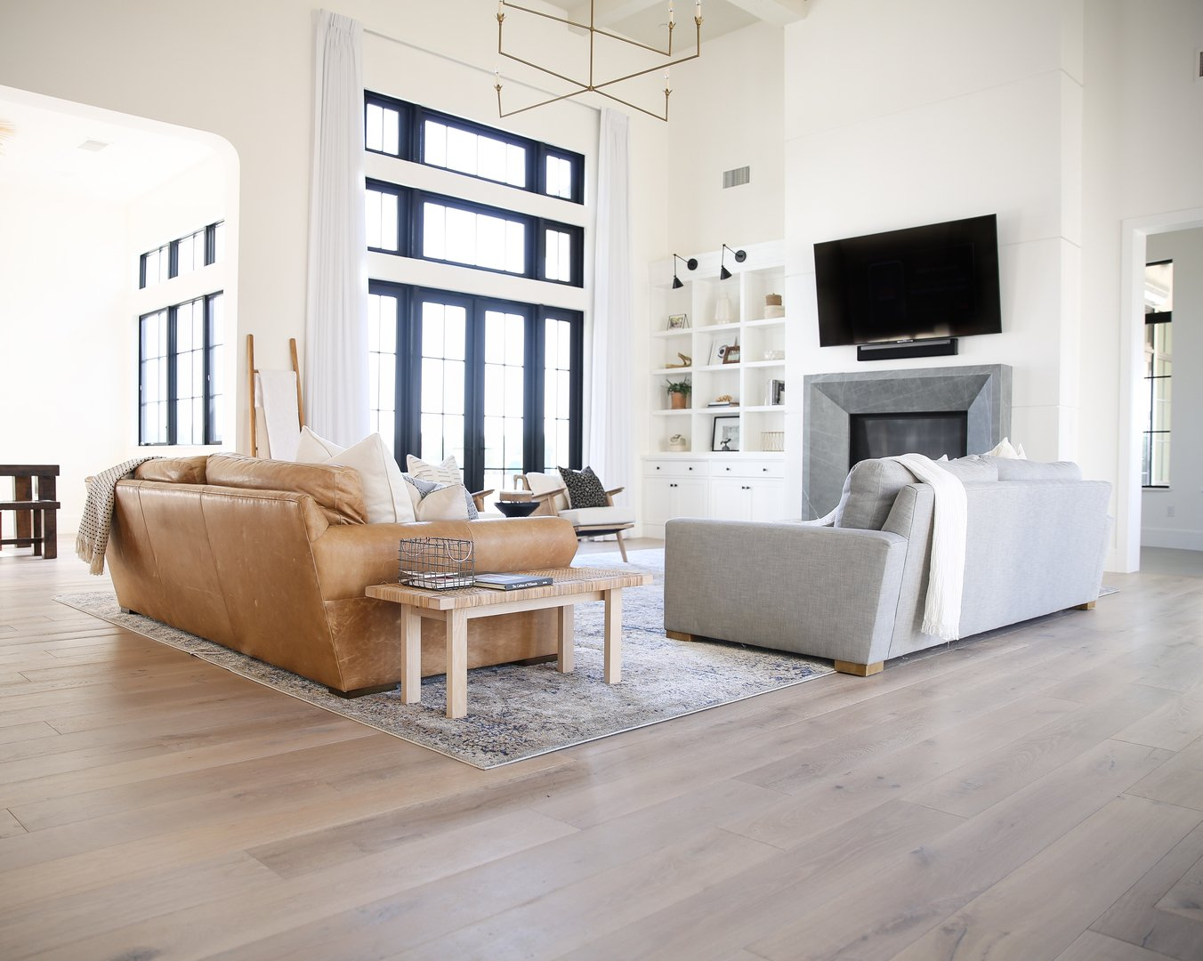 The Mattos Home Hardwood With Parquet Design And Carpet
