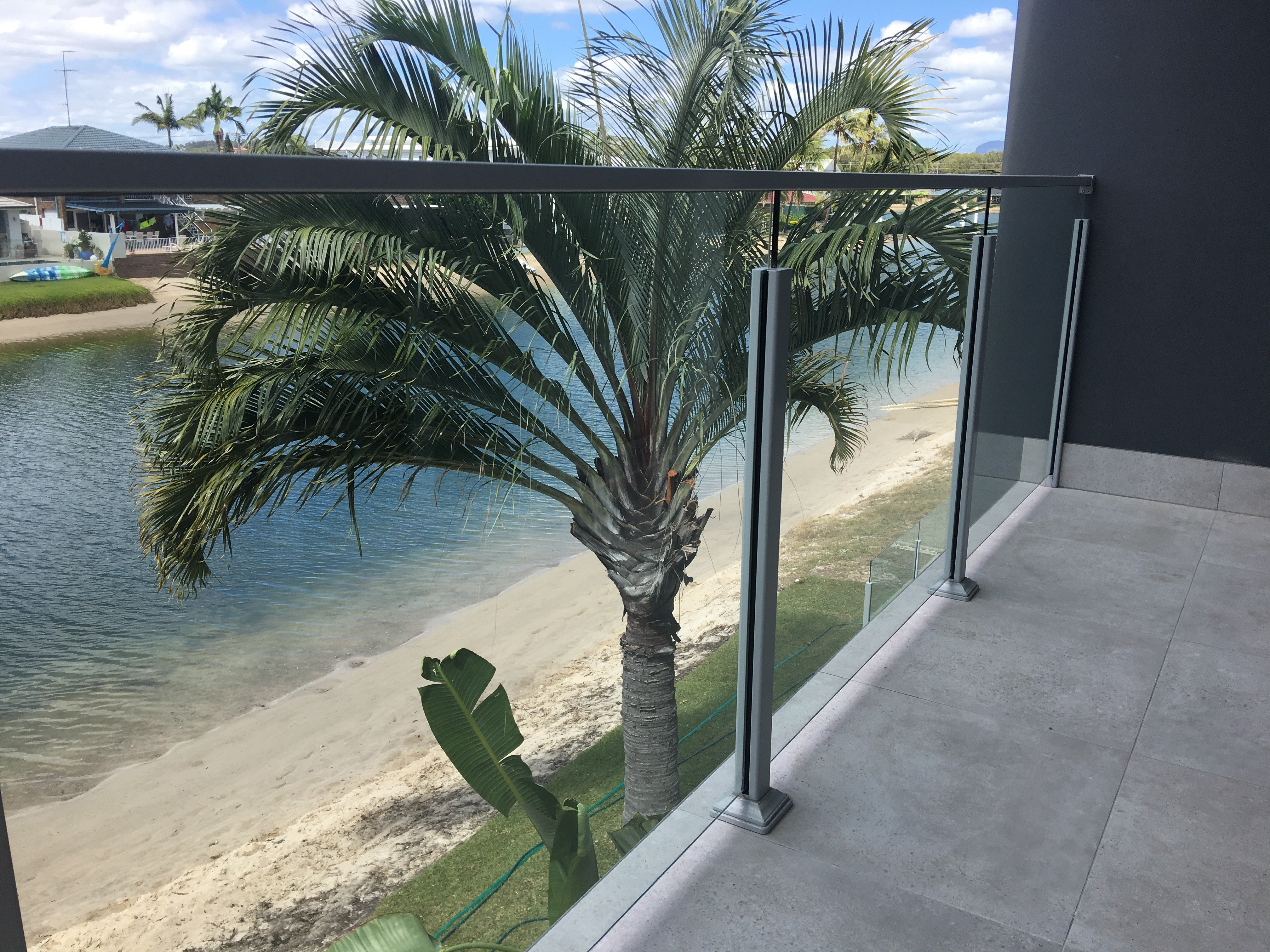 One of our stunning glass balustrades in the Gold Coast