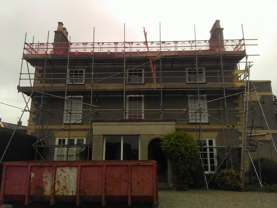 new build scaffolding