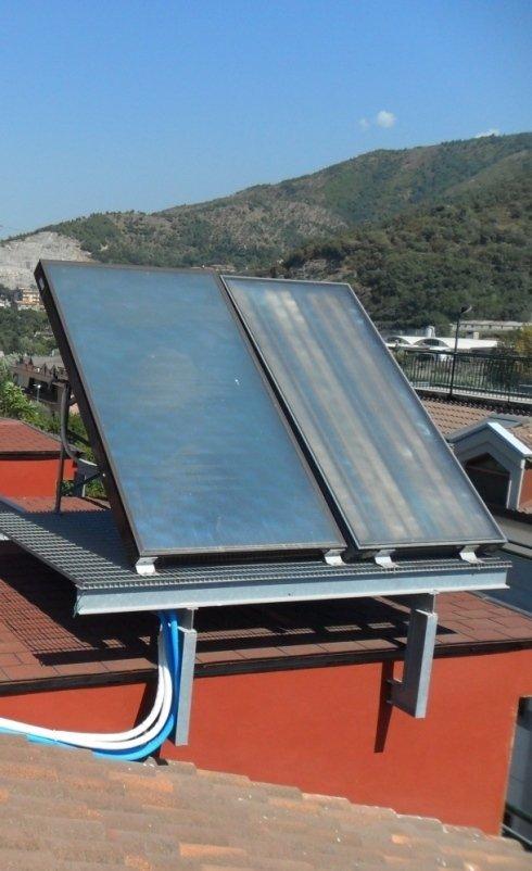 Impianto solare termico a circolazione naturale