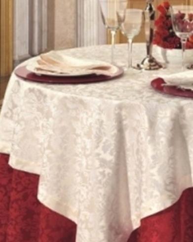 Satin cotton/polyester - Baroque Cardinal red + Cream