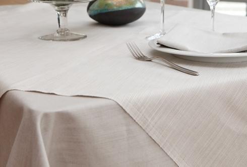 Rustici cotone lino - Country melange avorio