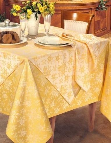 Satin cotton/polyester - Taormina yellow gold