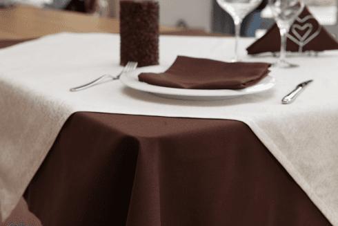 Satin cotton/polyester - Panama brown + Spanish beige