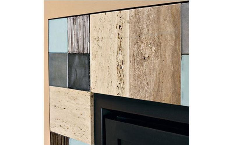 caminetto moderno pietra dettaglio