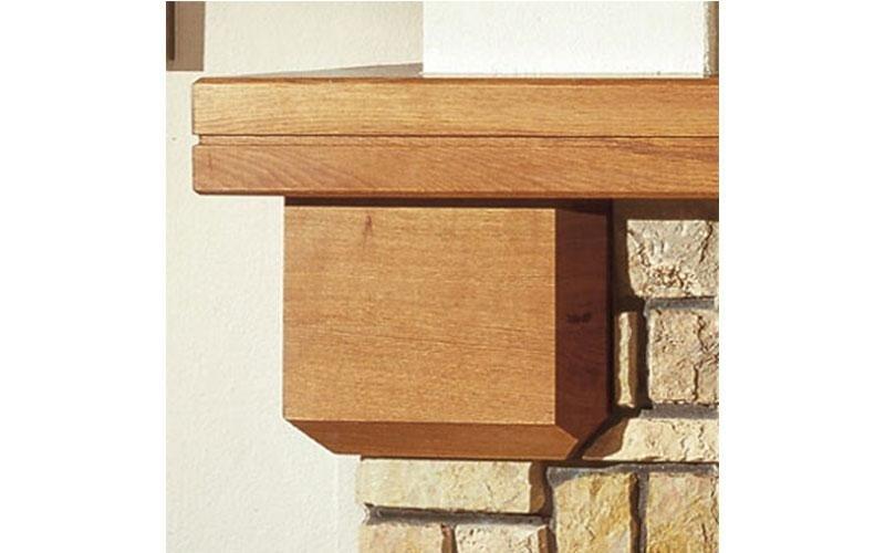 caminetti tradizionali capitello in legno