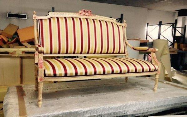 restauro di precisione divani