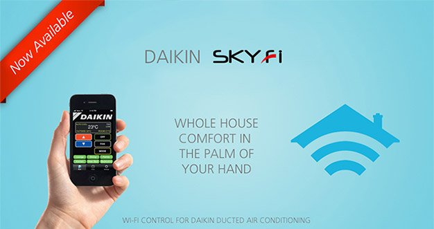 Daikin Sky Fi Wifi connection to Air conditioning and Split systems