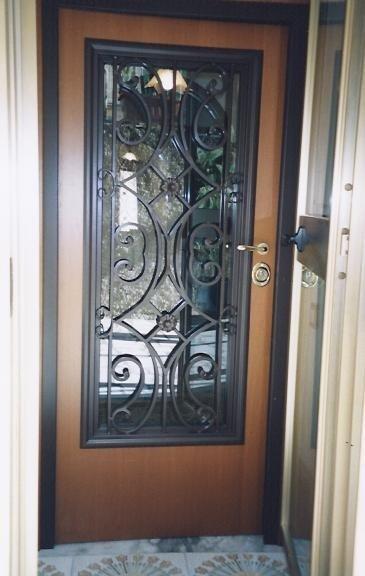 porta blindata vetrata su misura