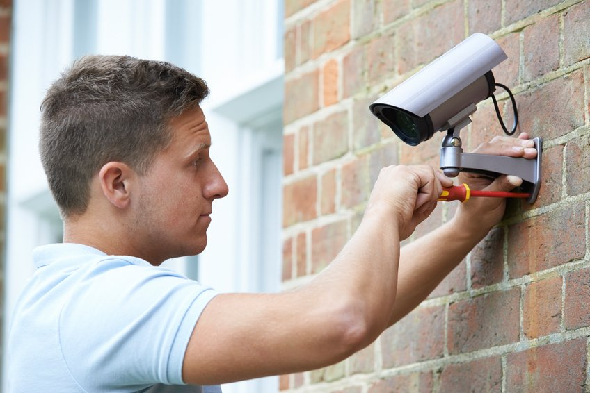 security installation. security system installation