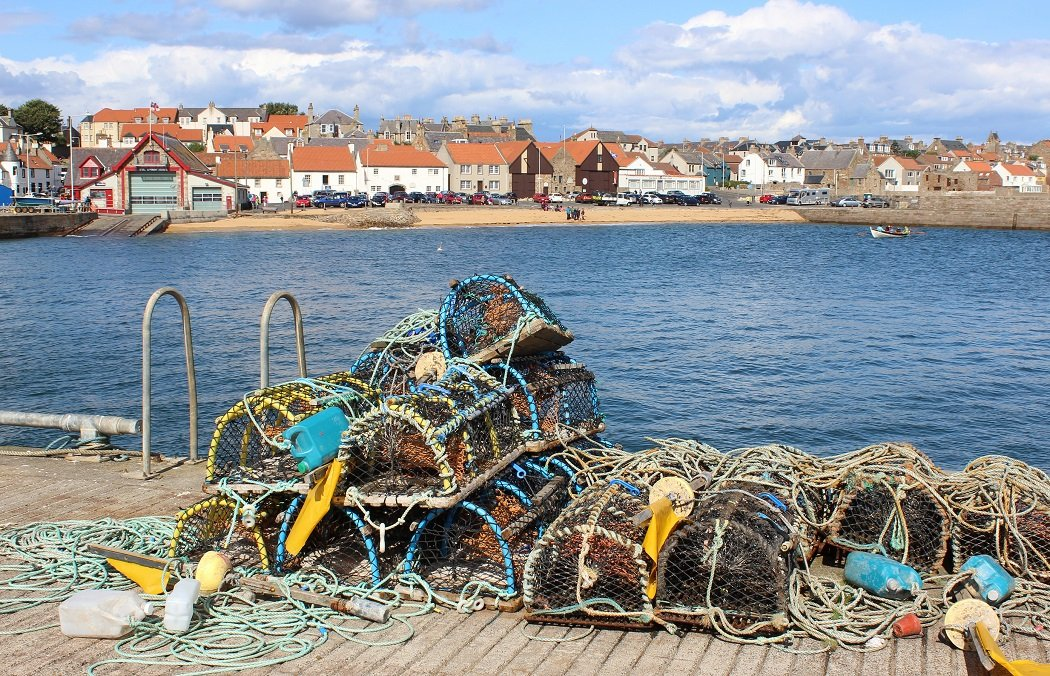 St Andrews Seafoods: Photo of traditional Lobster creels