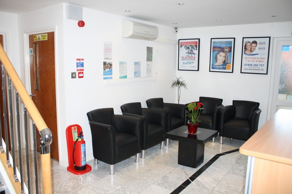 Waiting zone at Abacus Dental Care providing teeth whitening services and more in Milton Keynes, MK