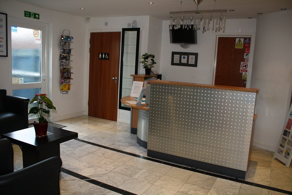 Reception area at Abacus Dental Care providing teeth whitening services and more in Milton Keynes, MK