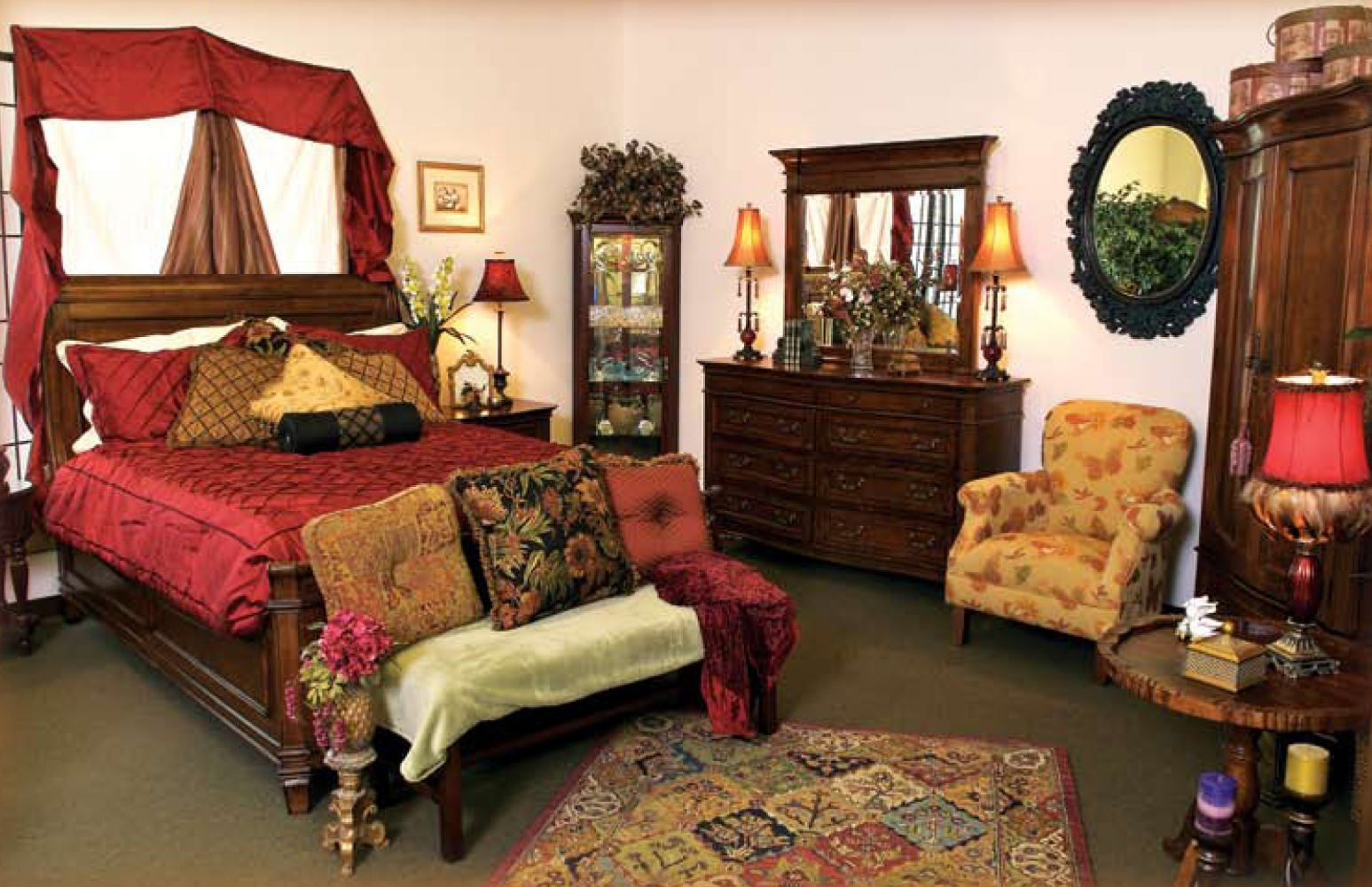 Bedroom display at our home furniture store in Spartanburg  SC. Home Furniture Store in Spartanburg  SC   Carruth Furniture Company