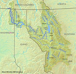 Pend Oreille River Map