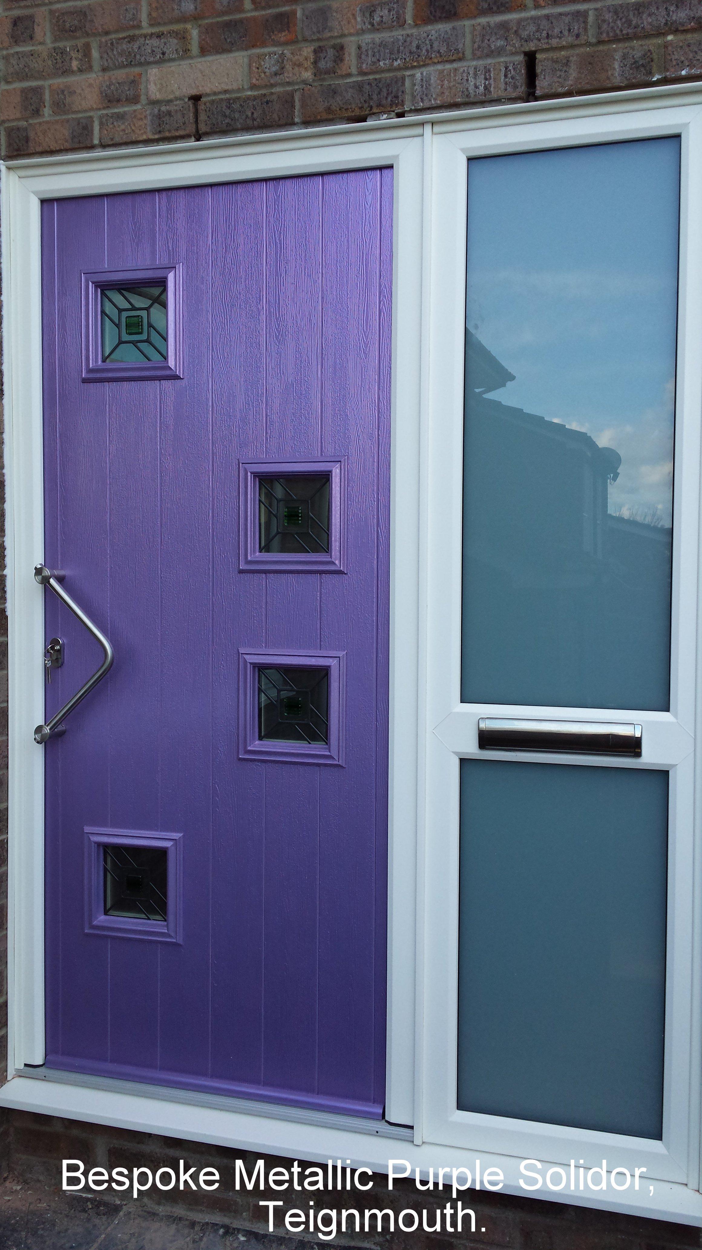 purple color door