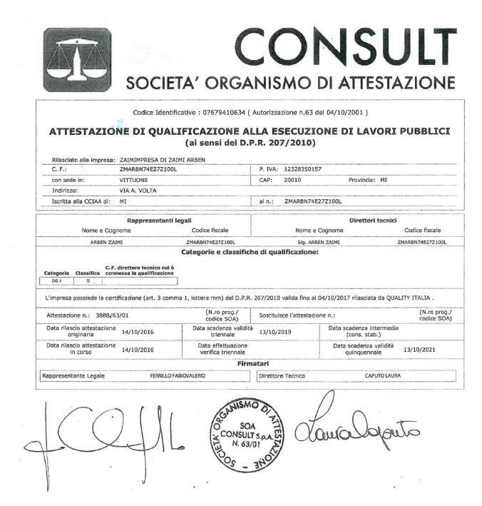 Consult SOCIETA' ORGANISMO DI ATTESTAZIONE