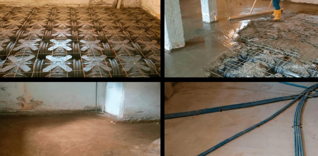 pavimenti con cavi elettrici