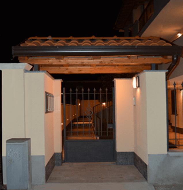 cancello in ferro di una casa